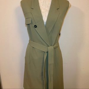 Nine West olive tie vest